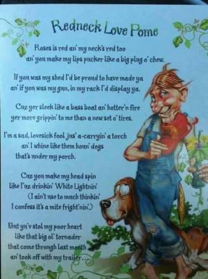 Redneck love poem