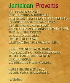 Jamaican Proverbs and Words by Lasana Bandele - An eclectic Reggae ...