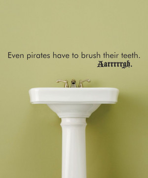 Black 'Brush Their Teeth' Wall Quote | Daily deals for moms, babies ...