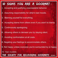 Don't be a Passive Door Mat More