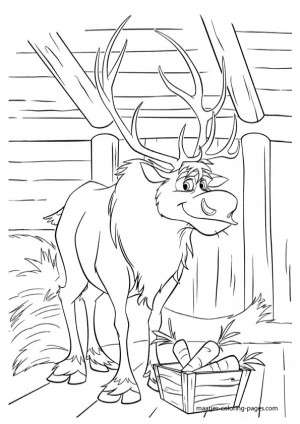 frozen coloring page png