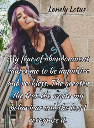 Fear of abandonment quote