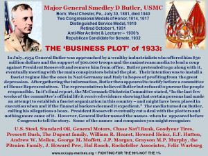 Major General Smedley Butler USMC