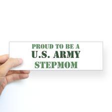 Proud Army Stepmom Bumper Bumper Sticker
