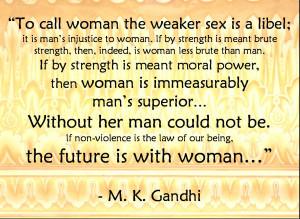 Download Mahatma Gandhi Wallpaper on Woman Empowerment