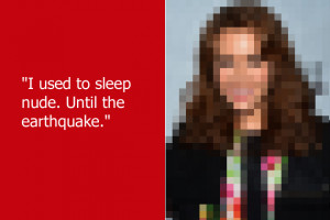 Natural disasters made this actress rethink her bedtime attire. She ...