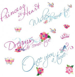 ... Mates RMK1521SCS Disney Princess Quotes Peel & Stick Wall Stickers