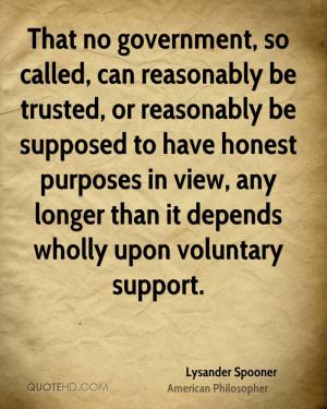 Lysander Spooner Quotes