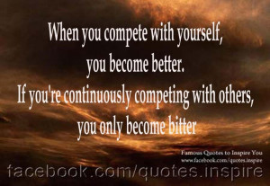 compete with yourself,fitness