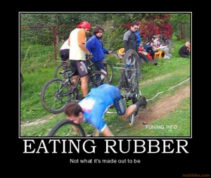 ... Full Size | More eating rubber accident funny bike people stupid