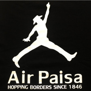 Air Paisa Hopping Borders Since 1846 - Funny Mexican T-shirts