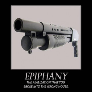 Weapon/Gun Quotes Cartoons Signs-epiphany-broke-into-wrong-house.jpg