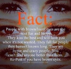 Brown eyed girl. (: