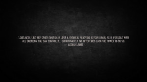 Loneliness Is a Chemical Reaction - Wallpaper by AedanClarke