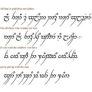 LOTR ELVISH SCRIPT