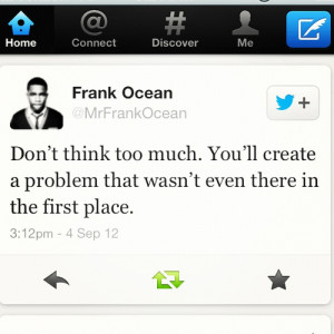 ... for this image include: quote, frank ocean, text, love and problem
