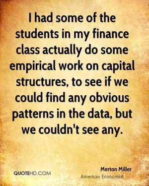 Merton Miller Finance Quotes