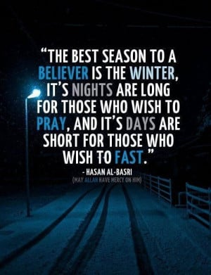 Winter - best Time for believers