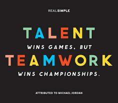 ... teamwork wins championships.