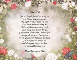 Aunt Poems http://www.ebay.com/itm/Personalized-Poem-Print-for-Aunt ...