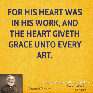 Henry Wadsworth Longfellow Art Quotes
