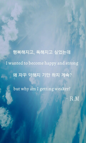 ... this image include: rap monster, life, quote, tomorrow and song quote