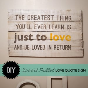 Make #WoodPallet Moulin Rouge Quote Wall Art with Template and # ...