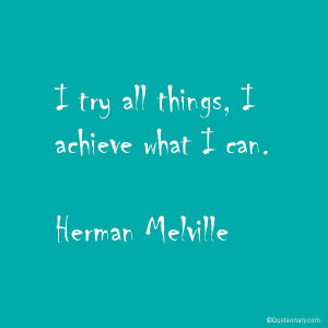 Herman Melville inspirational #quote