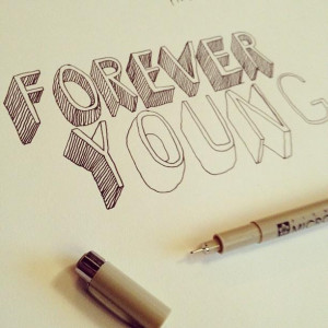doodle, forever, forever young, glmr klls, pen - inspiring picture on ...
