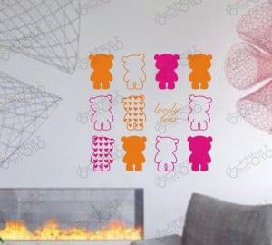 BEAR Word Quote Wall Decal Kids Room Sticker Wall Art Text / Quote ...