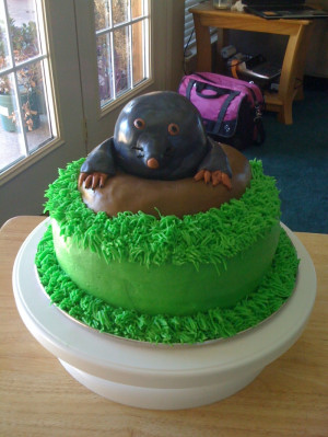 Mole Day Green Cake