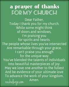 ... someone in your church needs to know how thankful you are for them