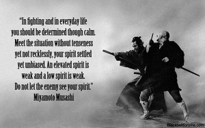 Samurai keeps word and honor. Unknown who fears and who respect them ...
