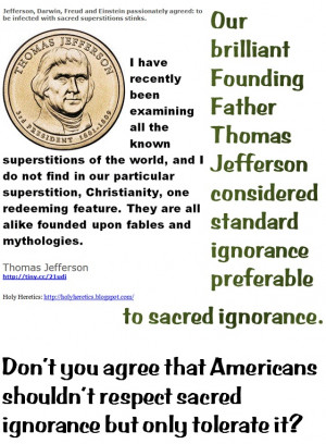 Our brilliant Founding Father Thomas Jefferson considered standard ...