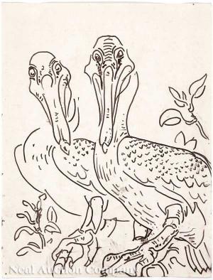 "Walter Inglis Anderson ""Two Pelicans: Chandeleurs"","