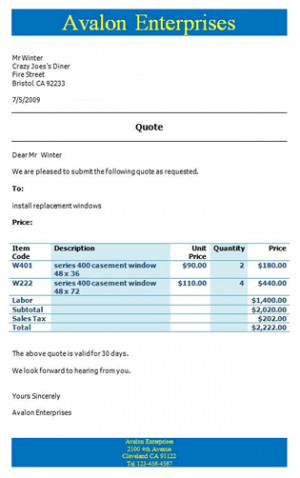 Invoicing Software Example Invoice and Example Quote