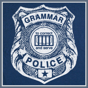 GRAMMAR POLICE T SHIRT FUNNY GEEK TEACHER COLLEGE NERD TEE
