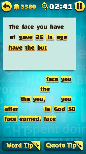Famous Quotes Scramble. Unscramble and share Quotes from famous people ...