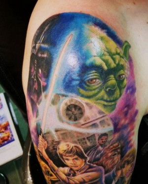 and yoda star wars yoda luke skywalker chewbacca tattoos tattoo ...