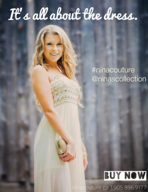 NINA COUTURE Luxury Fashion Dresses for Prom Wedding and Bridesmaids.