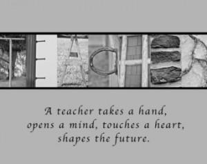 Thank You Art Teacher Quotes 8x12
