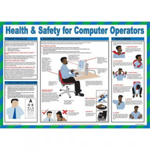Workplace Safety Posters — Health & Safety for Computer Operators