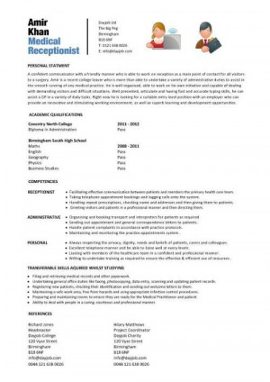 Medical Office Administration Resume Sample