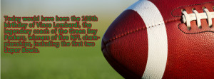 Football Quotes Facebook Cover