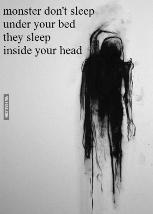 ... quotes, depression, emo, gothic, loneliness, monsters, sadness, scary