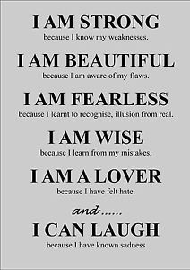LIFE-INSPIRATIONAL-MOTIVATIONAL-QUOTE-POSTER-PRINT-I-AM-STRONG-BECAUSE
