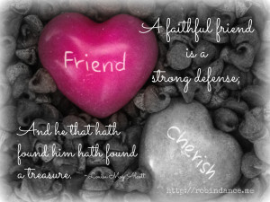 Faithful Friend Quote - Hearts and chocolate