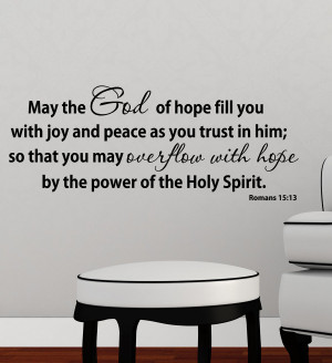 Wall Design : Religious Wall Decal Quotes Romans 1513 Vinyl By ...