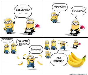 MINION AND BANANA!