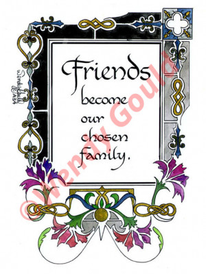 quotes about friends being chosen family